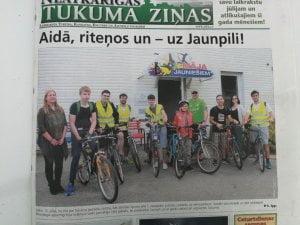 SVE Lettonie Tomas vélo