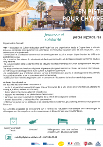 Corps Européen de Solidarité Pistes-Solidaires Chypre
