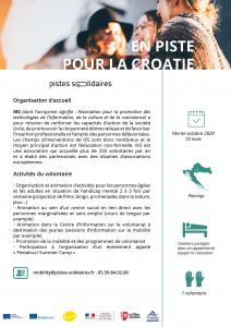 Corps Européen de Solidarité Pistes-Solidaires Croatie