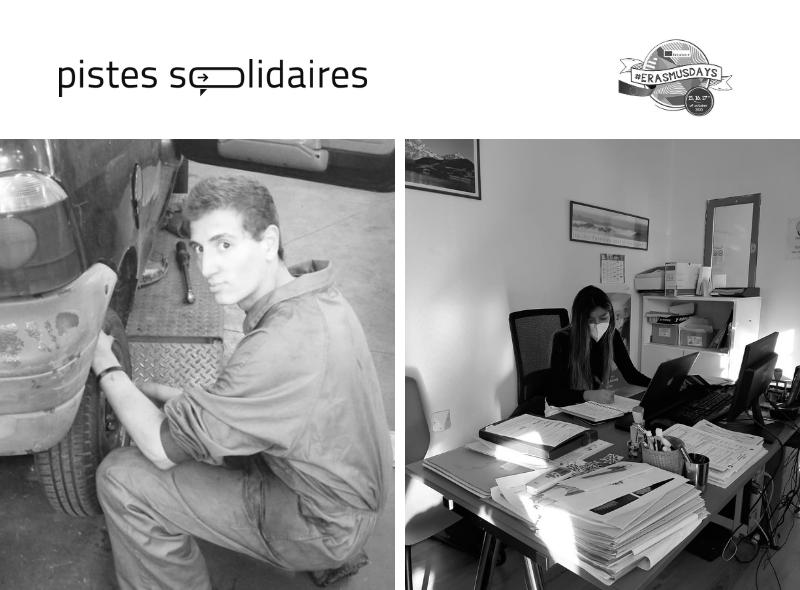 Stage Erasmus+ à Pau Pistes-Solidaires Alphalangues garage gonzalo